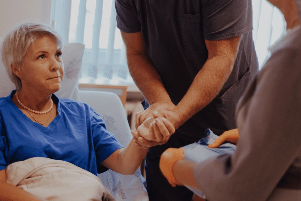 paciente pēc karpālā kanāla operācijas