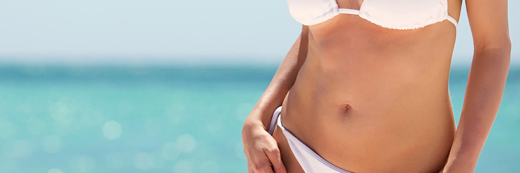 sieviete pēc tauku atsūkšanas