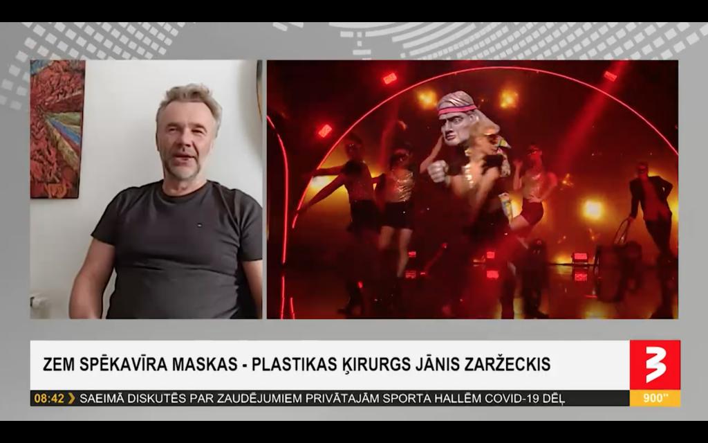 """Dr. Zaržeckis dalār ar piedzīvoto šovā """"Balss Maskā"""""""